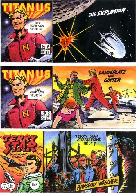 CCH Comics – Titanus - Der Herr von Niflheim Hefte 1-9, Terry Star Hefte 1+2 – komplette Piccolo-Serie mit 11 Heften
